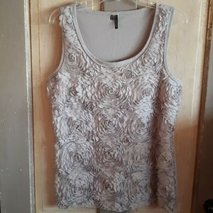 Maurices Gray Floral tank top